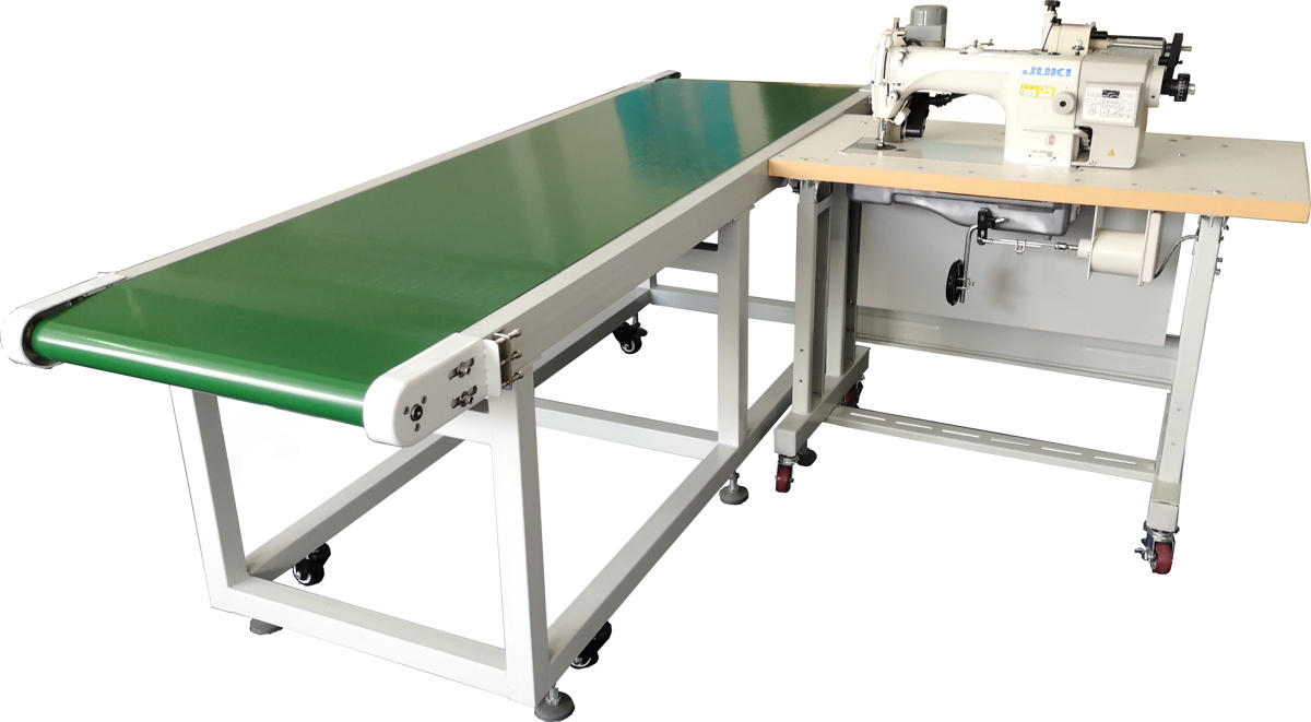 Single Needle Curtain Hemming with Conveyor Workstation