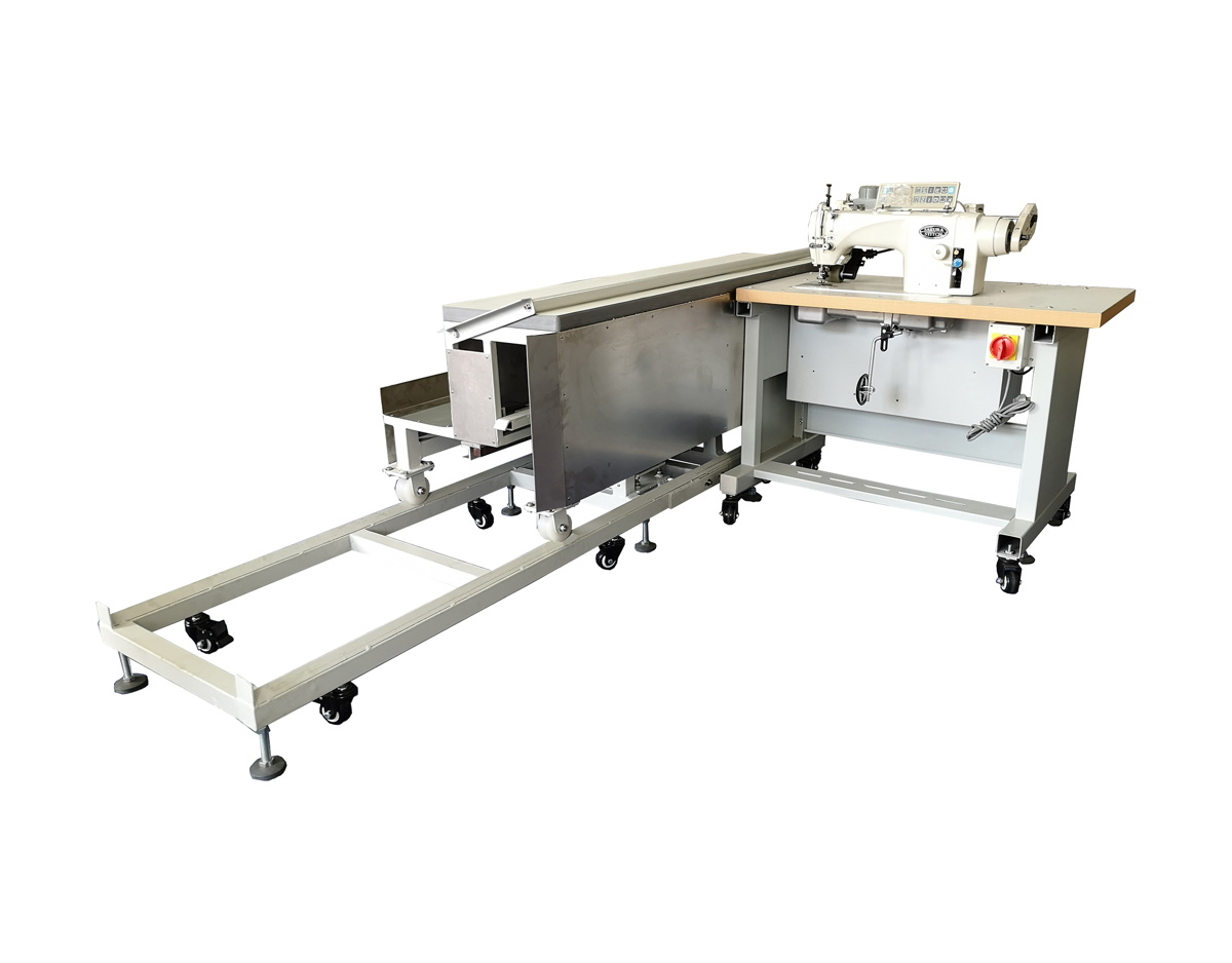Single Needle Curtain Hemming with Moving Platform Workstation