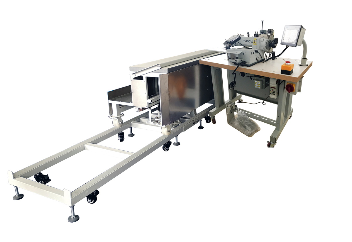 Curtain Blindstitch Hemming with Moving Platform Workstation