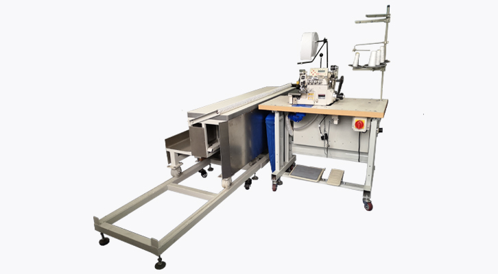 Overlock Curtain Edge Lining Attaching with Moving Platform Workstation